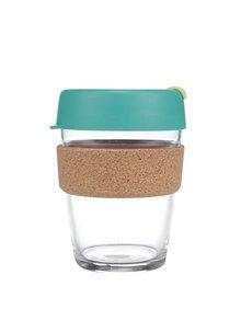 Designový cestovní skleněný hrnek KeepCup Brew Thyme Cork Medium