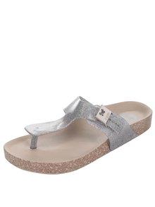 Ligotavé žabky v striebornej farbe Zaxy Fashion Flat Thong