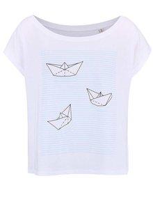 Biele dámske voľnejšie tričko ZOOT Originál Lodičky