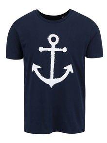 Tricou albastru închis ZOOT Original Anchor din bumbac cu print