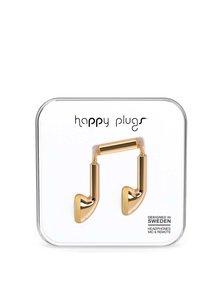 Earbud slúchadlá v zlatej farbe Happpy Plugs