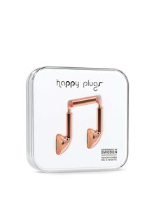 Căști roz-aurii Happy Plugs