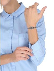 Dámske hodinky v striebornej farbe s nerezovým remienkom Komono Moneypenny Royale Silver