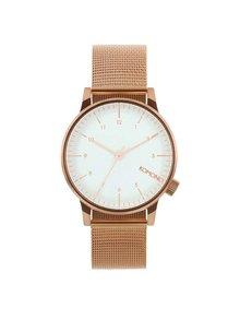 Unisex hodinky v medenej farbe s nerezovým remienkom Komono Winston Royale