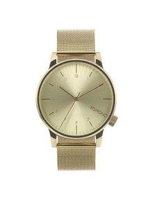 Unisex hodinky v zlatej farbe s nerezovým remienkom Komono Winston Royale