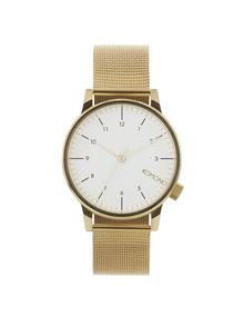 Unisex hodinky v zlatej farbe s kovovým remienkom Komono Winston Royale