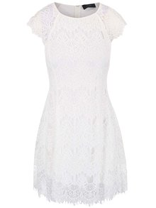 Krémové čipkované šaty AX Paris