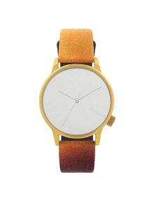 Unisex hodinky v zlatej farbe Komono Winston by René Magritte