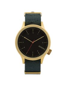 Unisex hodinky v zlatej farbe s textilným remienkom Komono Magnus