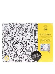 Servet de masă, de colorat Keith Haring OMY