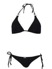Čierne dvojdielne plavky s krúžkami v zlatej farbe Relleciga Cherry