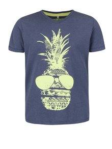 Tmavomodré chlapčenské tričko s potlačou name it Istian