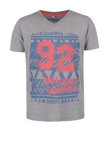 Sivé chlapčenské tričko s potlačou čísla 92 name it Istian