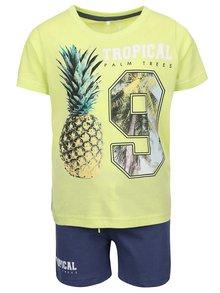 Limetková chlapčenská súprava trička so šortkami name it Tilvo