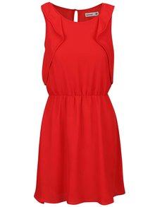 Červené šaty s volány Lavand