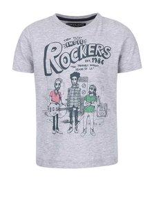 Sivé chlapčenské tričko s potlačou North Pole Kids