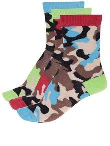 Sada tří klučičích ponožek v hnědé a černé barvě Oddsocks Boys12