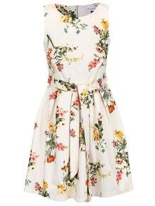 Krémové květované šaty Closet