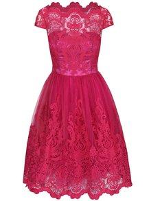 Rochie cu dantelă Chi Chi London Suki roz