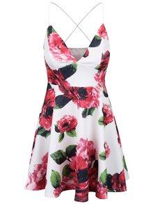 Krémové šaty s motívom kvetín AX Paris
