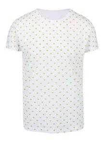 Biele pánske vzorované tričko Míša