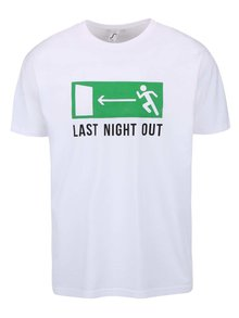 Tricou alb ZOOT Original Last Night Out cu imprimeu