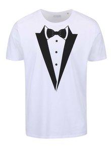 Tricou bărbătesc alb cu imprimeu ZOOT Original