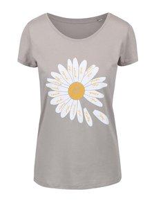 Šedé dámské tričko ZOOT Originál Sedmikráska