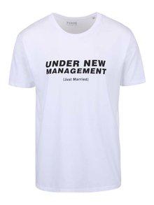 Tricou alb ZOOT Original Under New Management cu imprimeu text