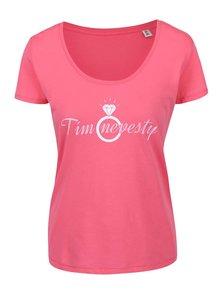 Ružové dámske tričko ZOOT Originál Tím nevesty