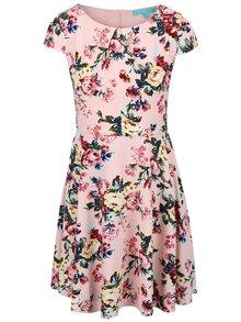 Růžové květované šaty Fever London Millie