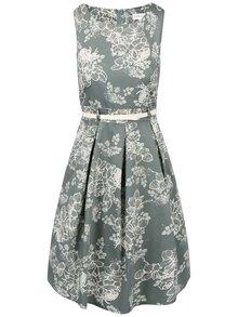 Šedozelené šaty s květinovým vzorem Apricot