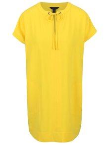 Žluté volnější šaty s kapsami Nautica