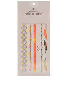 Pastelové tetování ve zlaté barvě Pieces Tattoo