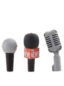 Sada tří gum na tužku ve tvaru mikrofonů Kikkerland