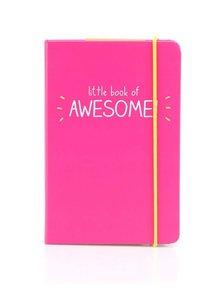 Růžový zápisník A6 Happy Jackson Book of Awesome