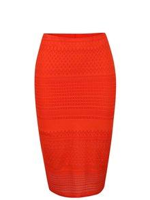Oranžová čipkovaná sukňa Miss Selfridge