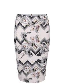 Pudrovoružová vzorovaná sukňa Miss Selfridge