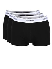 Súprava troch boxeriek v čiernej farbe Calvin Klein