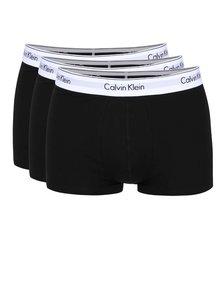 Sada tří boxerek v černé barvě Calvin Klein