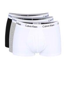 Sada tří boxerek v černé, bílé a šedé barvě Calvin Klein