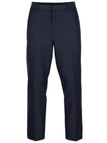 Modré slim fit formálne nohavice Burton Menswear London