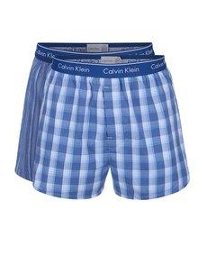 Set de 2 perechi de boxeri alb & albastru Calvin Klein