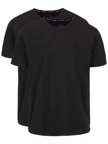 Súprava dvoch pánskych tričiek v čiernej farbe s okrúhlym výstrihom Calvin Klein