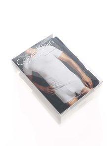 Súprava dvoch pánskych čiernych regular fit tričiek pod košeľu Calvin Klein