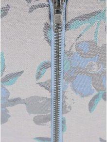 Světle modrý květovaný crop top Miss Selfridge