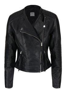 Čierna koženková bunda VERO MODA Marina