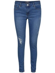 Světle modré skinny džíny s potrhaným efektem Dorothy Perkins
