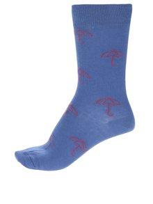 Șosete albastre cu imprimeu pentru femei Happy Socks Umbrella