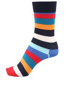 Červeno-žluto-modré pruhované unisex ponožky Happy Socks Stripe